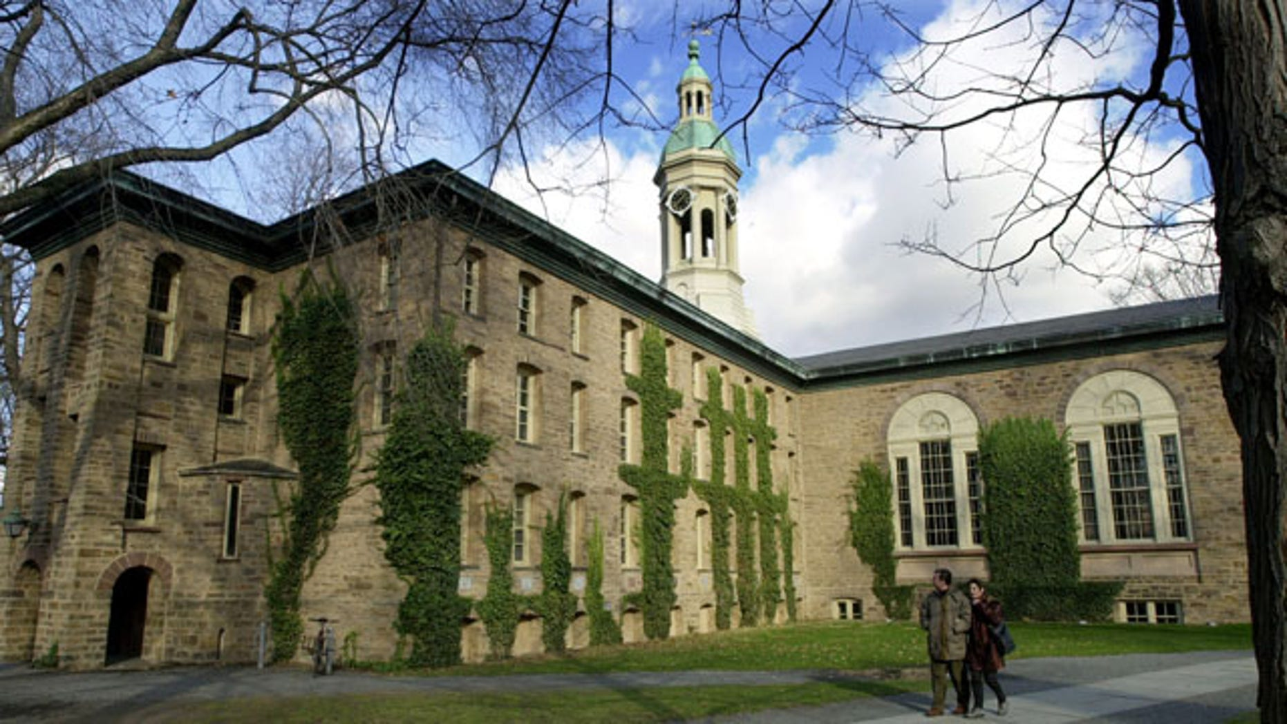 Nassau Hall on the campus of Princeton University in New Jersey. (AP Photo)