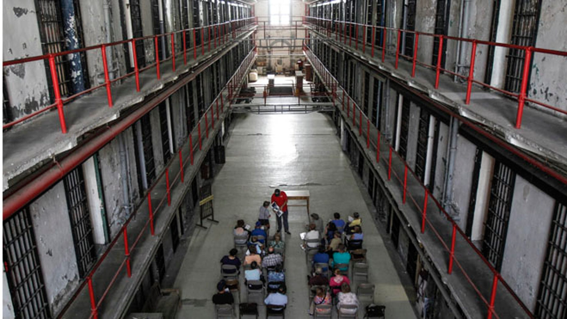 FILE: Sept. 12, 2013: People tour the decommissioned Missouri State Penitentiary,  in Jefferson City, Missouri.