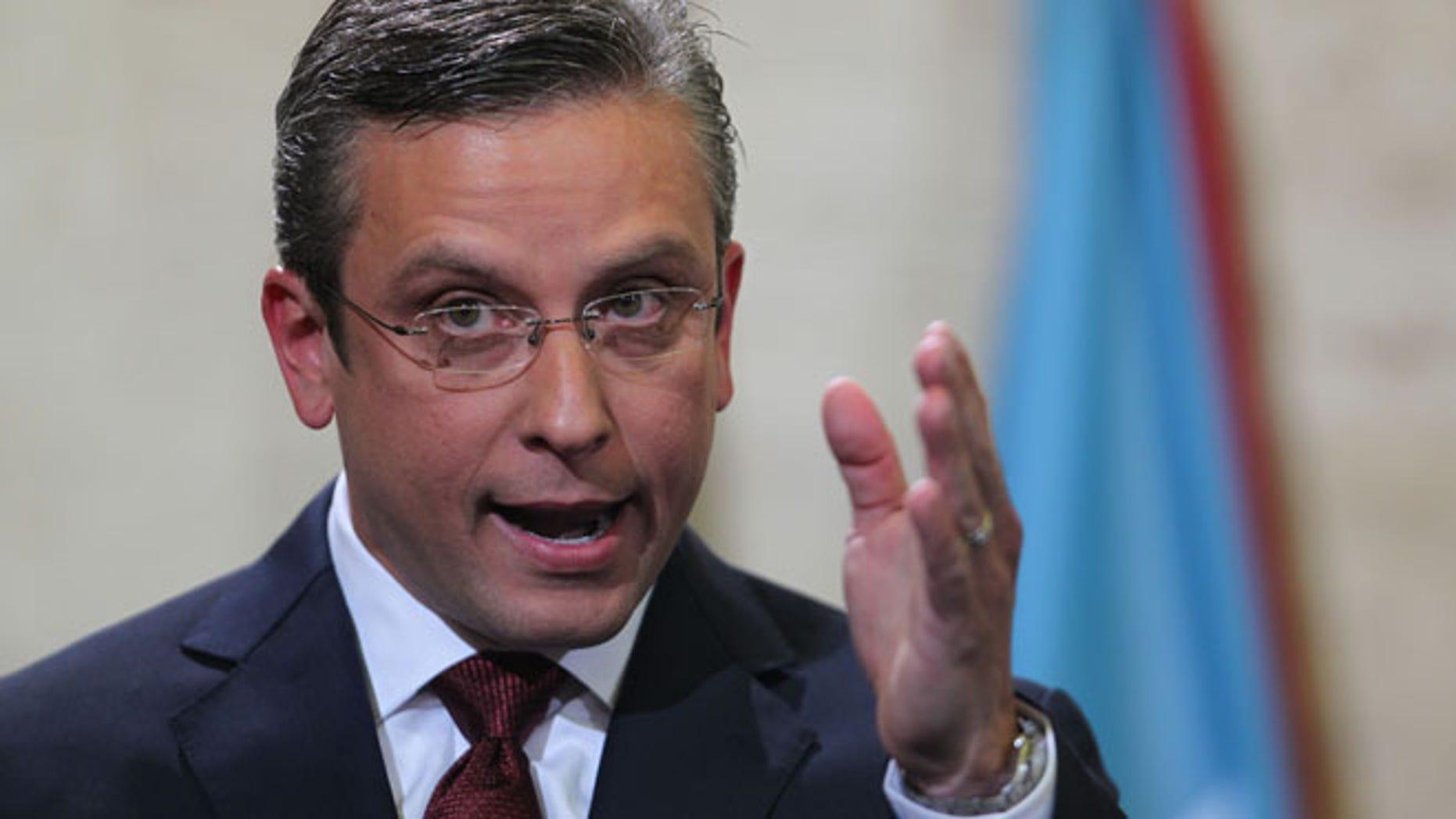 Puerto Rico Gov. Alejandro Garcia Padilla.