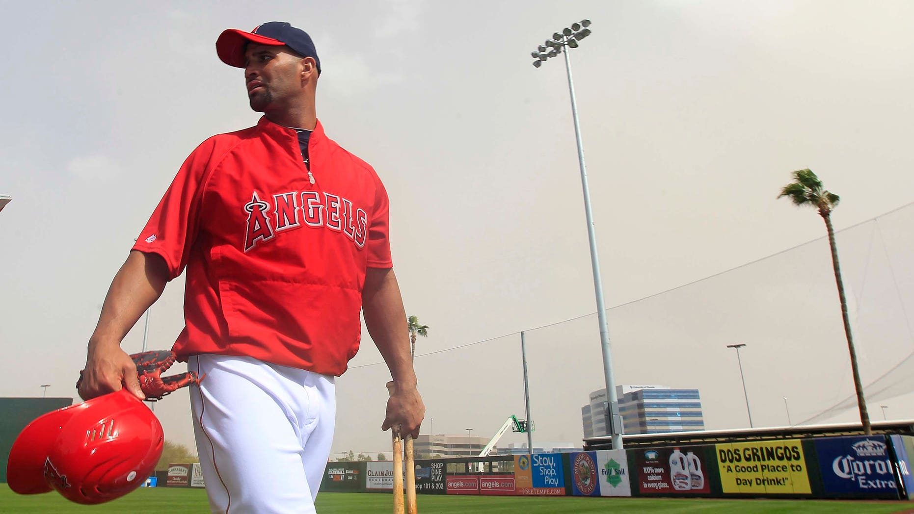 Albert Pujols at Spring training in Tempe, AZ.