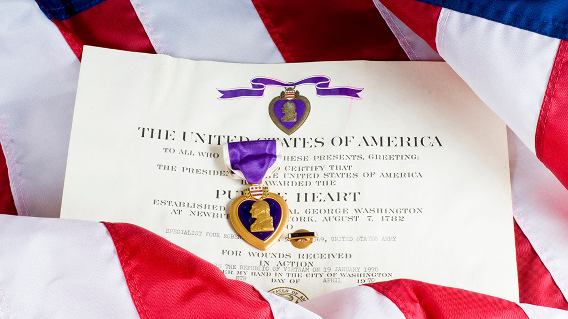 President Trump on Tuesday commemorated Purple Heart Day, in which military members who have been injured or killed while serving the U.S. are recognized.