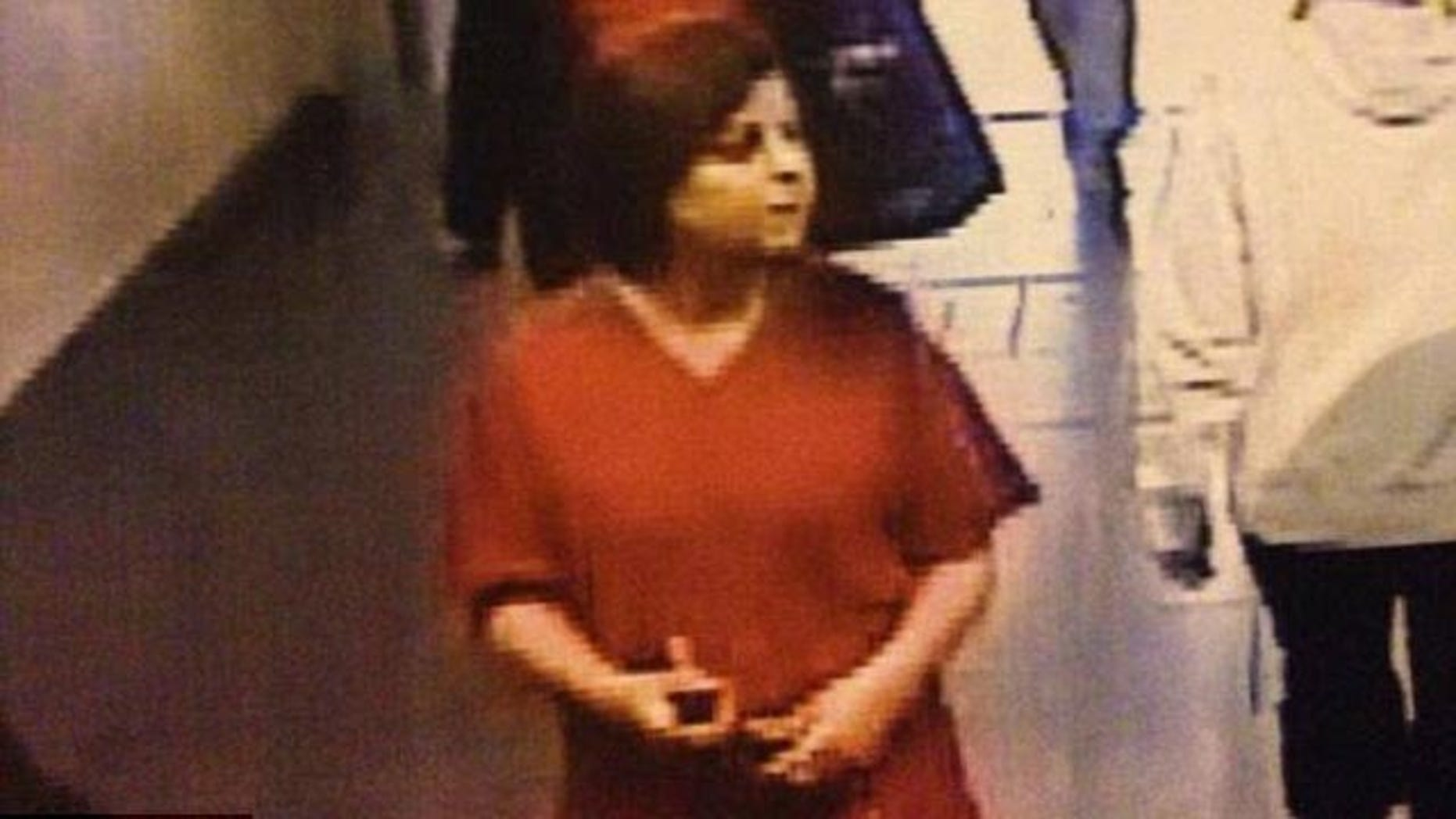 May 26, 2014: This photo taken from surveillance footage appears to show a women whom police believe abducted an hours-old baby from a hospital in Trois-Rivieres, Quebec, Canada (Quebec Police)