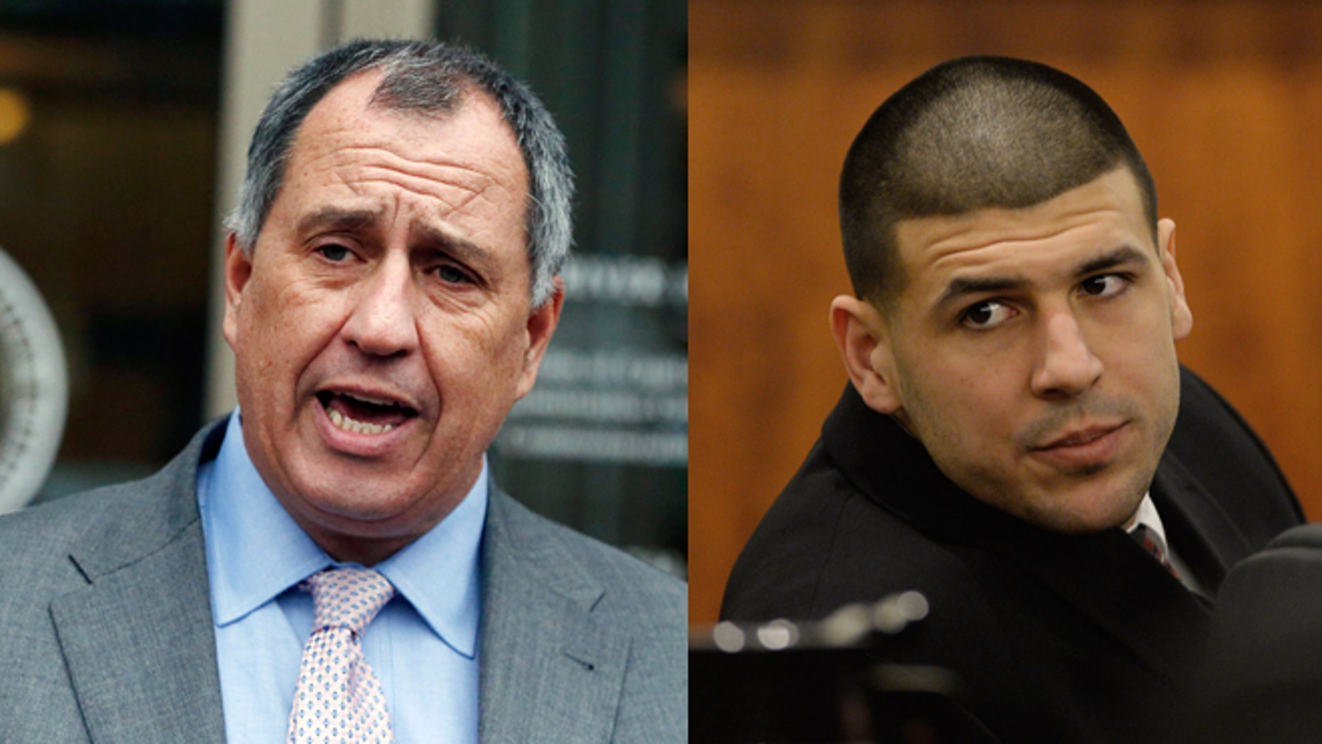 Left: Bristol County acting attorny general, Thomas Quinn. Right: Aaron Hernandez. (Photos: Associated Press)