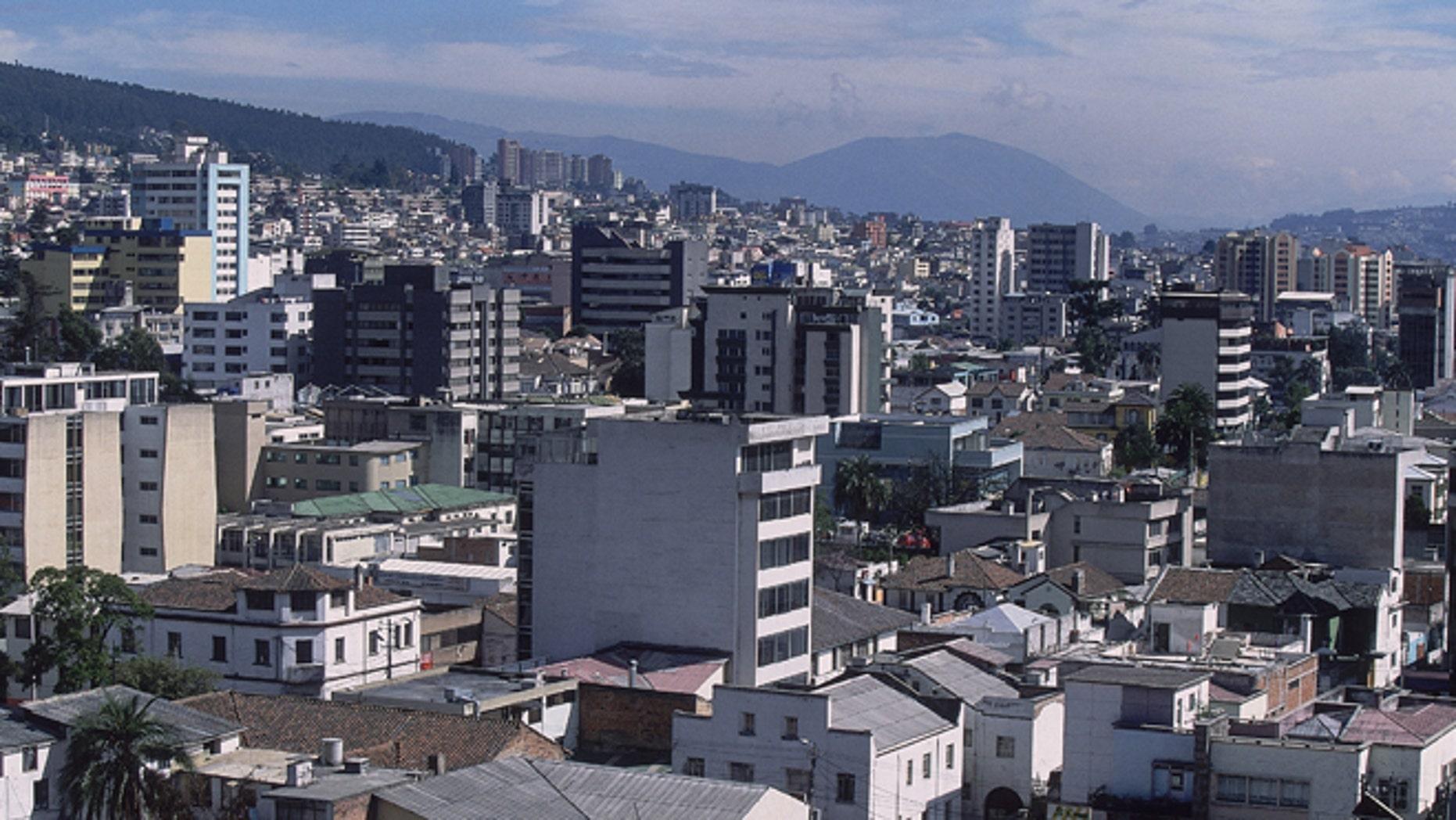 General view of the Ecuadorian city of Quito.