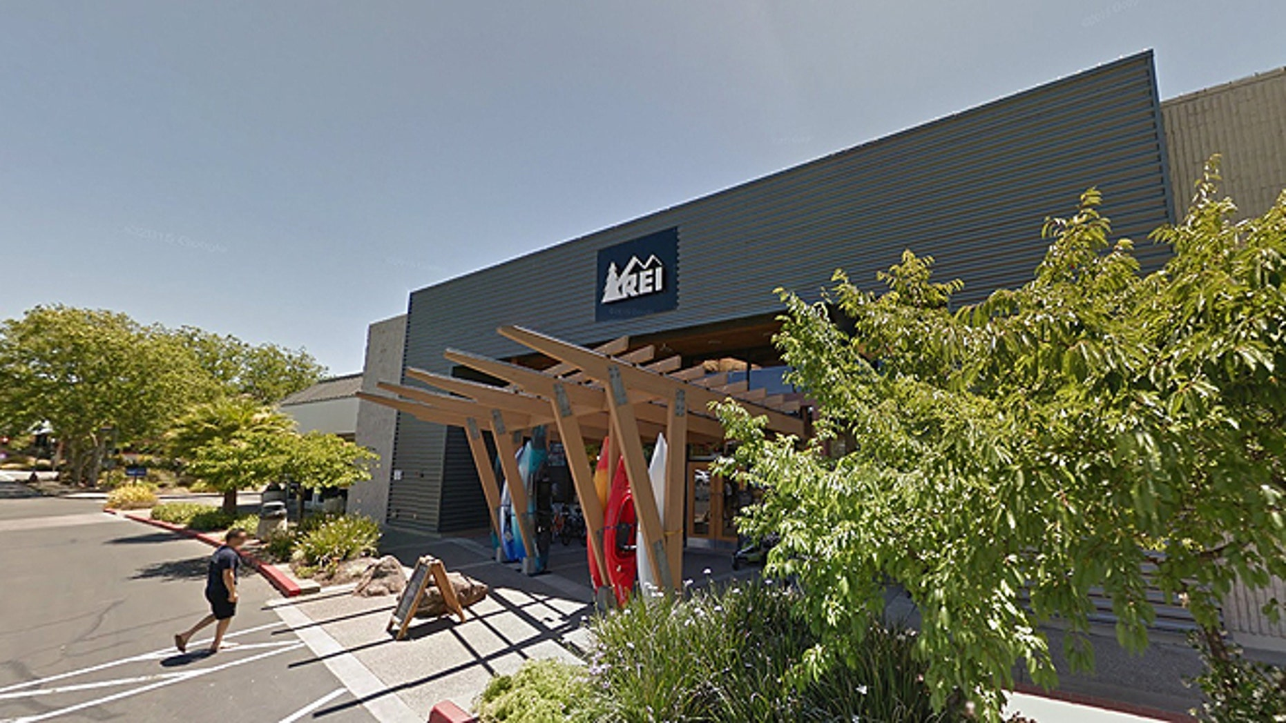 A Northern California mother was banned from this REI sporting goods store in Santa Rosa after she voiced concerns that a man went into the ladies room while her 12-year-old daughter was in there. (Google Street View)