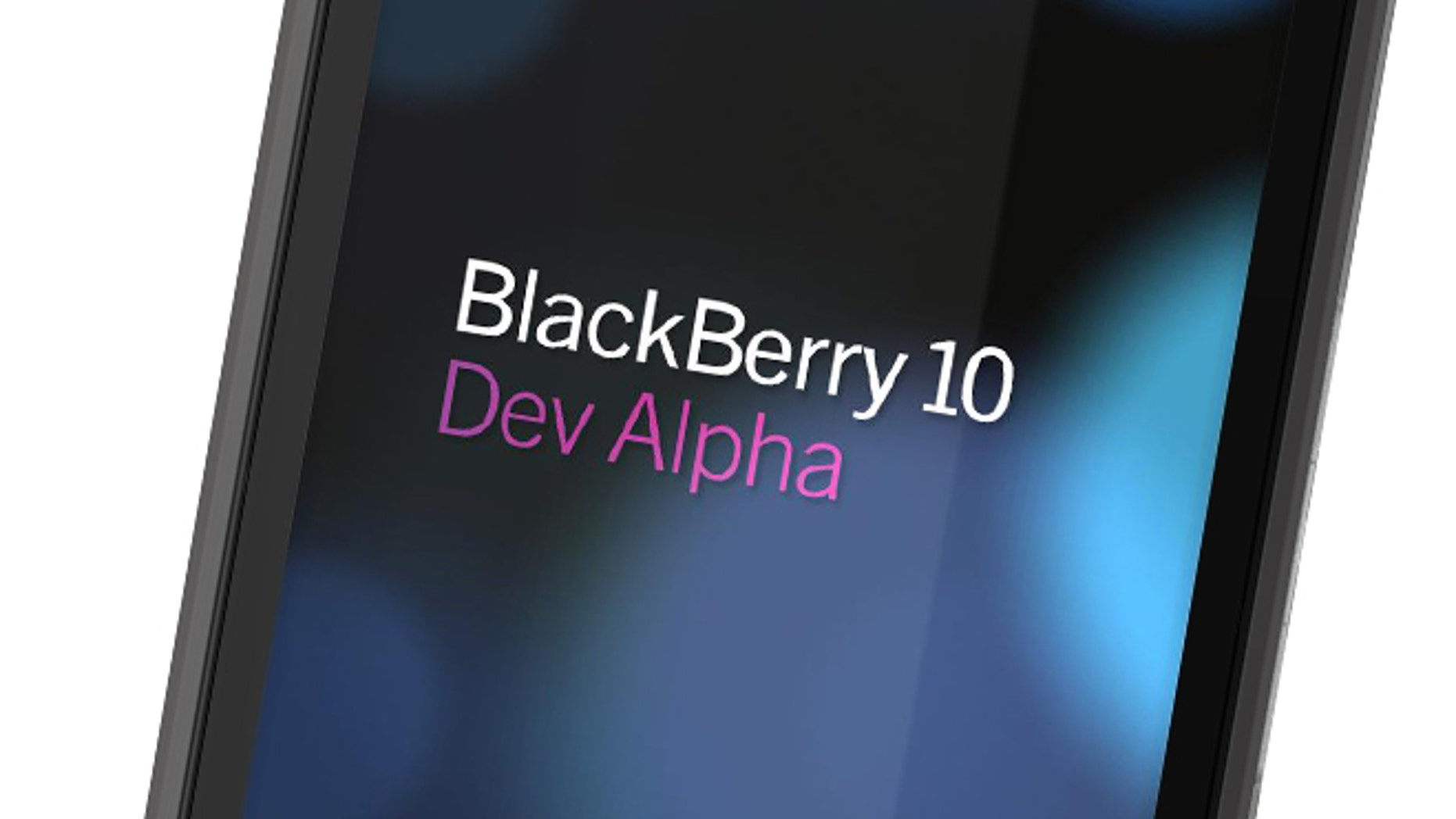 "May 1, 2012: BlackBerry-maker Research in Motion promised to provide every developer who attends developer conference BlackBerry 10 Jam an ""Alpha"" device, the prototype shown here created to test BlackBerry 10 applications."