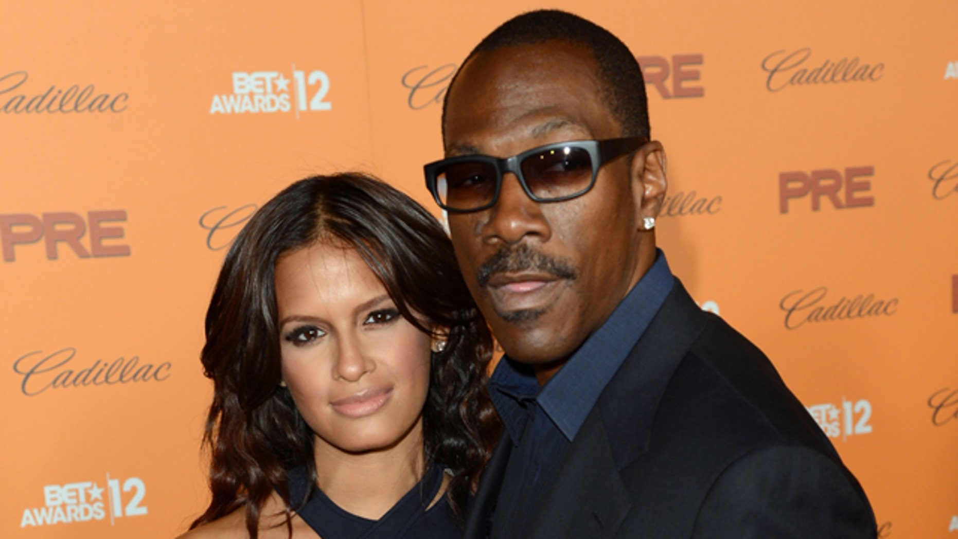 LOS ANGELES, CA - JUNE 30:  (L-R) TV personality Rocsi Diaz and actor Eddie Murphy arrive at Debra Lee's Pre-BET Awards Celebration during the 2012 BET Awards at Union Station on June 30, 2012 in Los Angeles, California.  (Photo by Jason Merritt/Getty Images For BET)