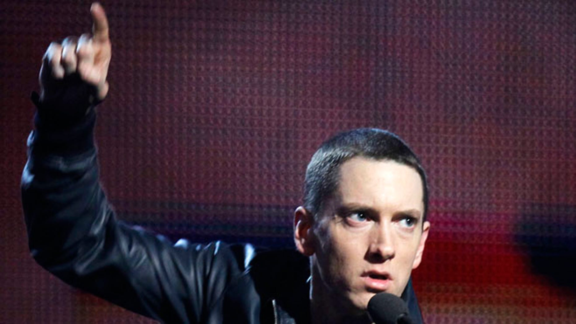 "Feb. 13, 2011: Eminem accepts his award for Best Rap Solo Performance for ""Not Afraid"" at the 53rd annual Grammy Awards in Los Angeles, California."