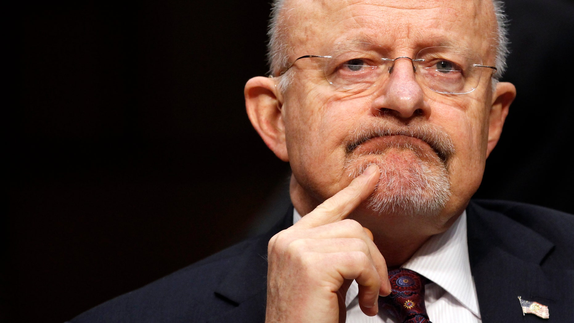 """January 31, 2012: Director of National Intelligence James Clapper testifies before a Senate (Select) Intelligence hearing on """"World Wide Threats"""" on Capitol Hill in Washington."""