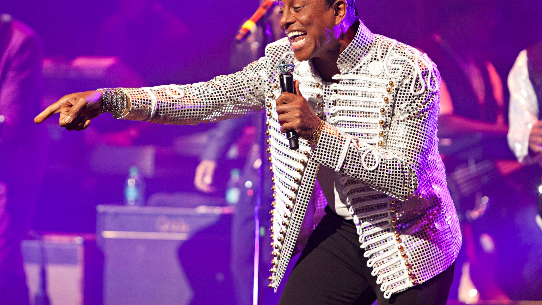 June 28, 2012: Jermaine Jackson of the musical group The Jacksons performs during the group's Unity Tour at the Apollo Theater in New York.