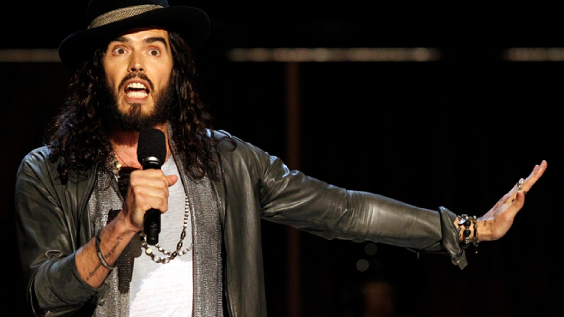 Actor and comedian Russell Brand.