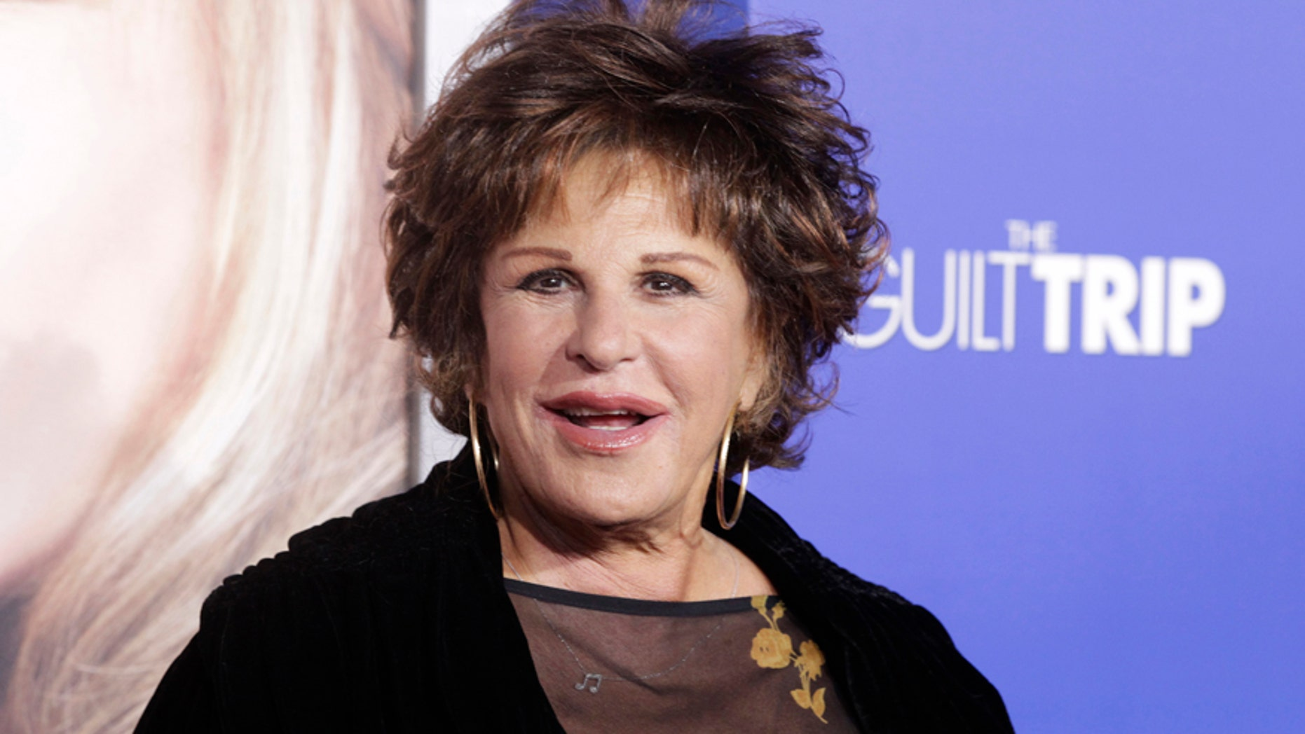 "Singer and actress Lainie Kazan arrives at the premiere of ""The Guilt Trip"" starring Barbra Streisand and Seth Rogen in Los Angeles December 11, 2012."