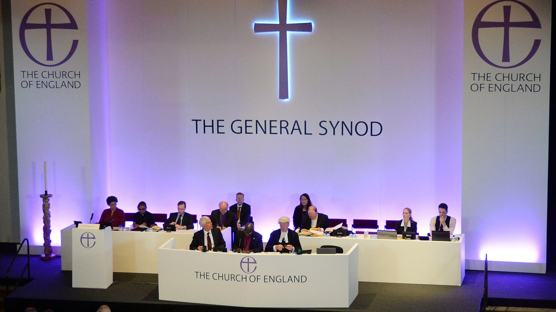 July 14, 2014 - Members of the Church of England's Synod attend the session to vote on the consecration of women bishops, in York. REUTERS