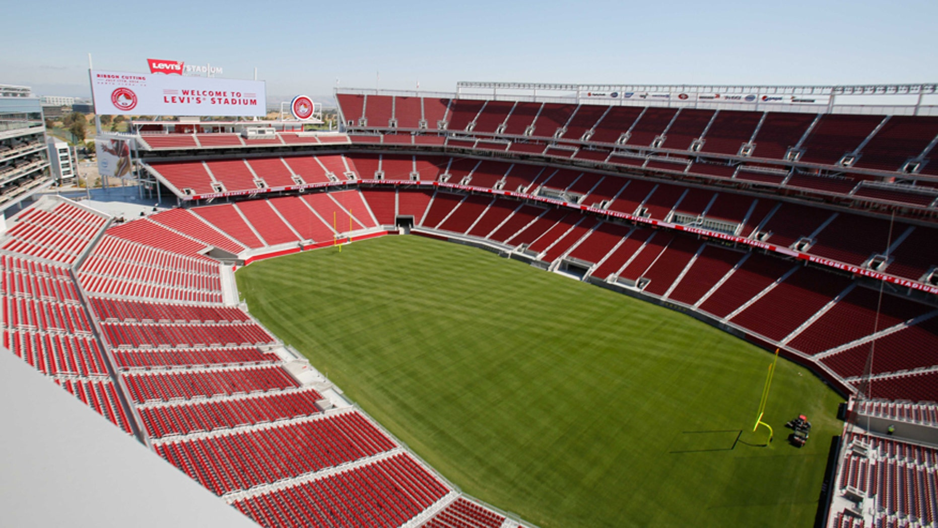 Jul 17, 2014; Santa Clara, CA, USA; General view of the new NFL stadium during a tour before the ribbon cutting ceremony at Levi's Stadium.