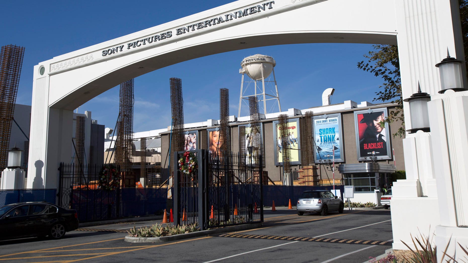 An entrance gate to Sony Pictures Studios is pictured in Culver City, California.