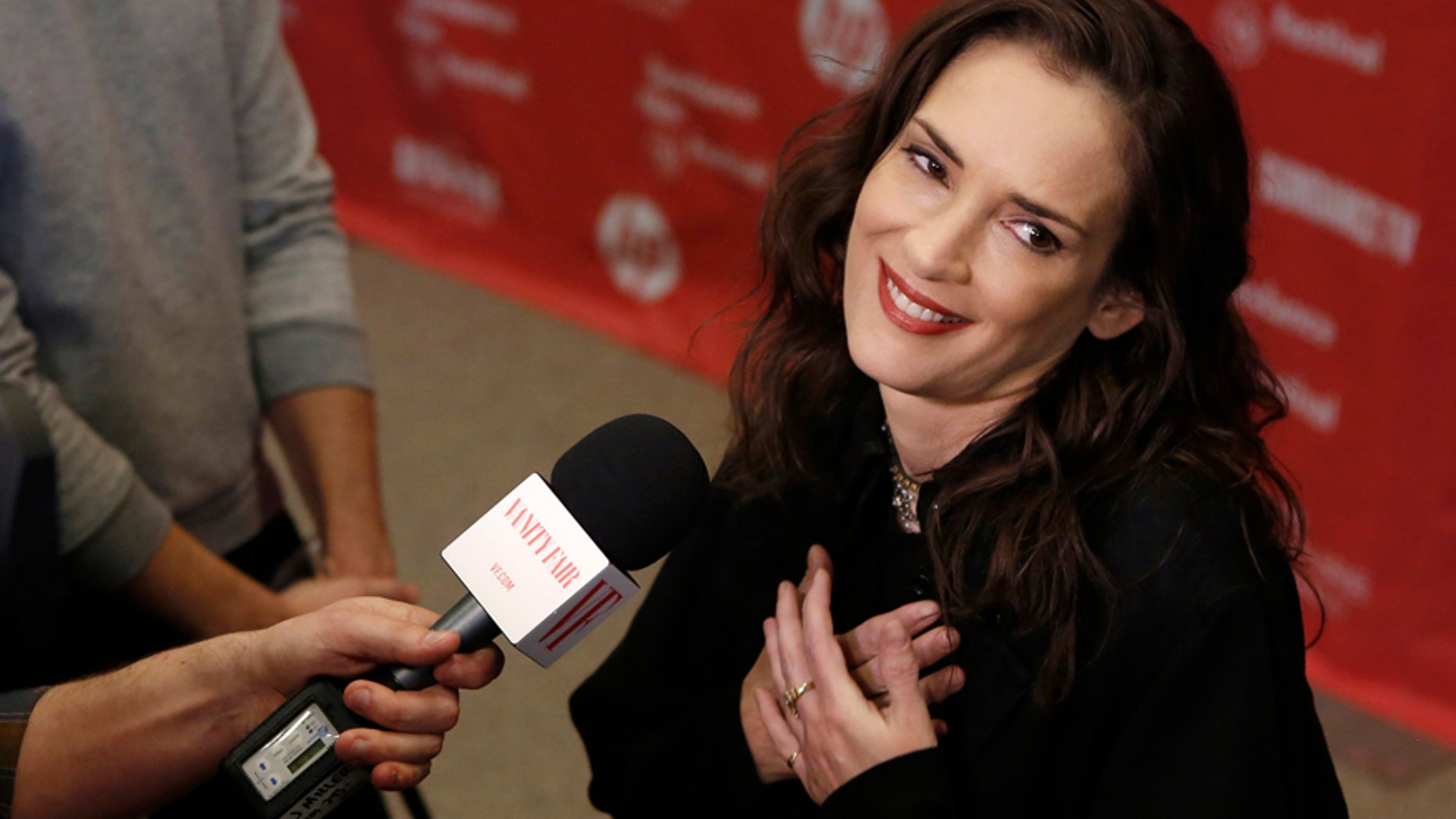 """Actress Winona Ryder attends the premiere of """"Experimenter"""" at the Sundance Film Festival in Park City, Utah, January 25, 2015."""