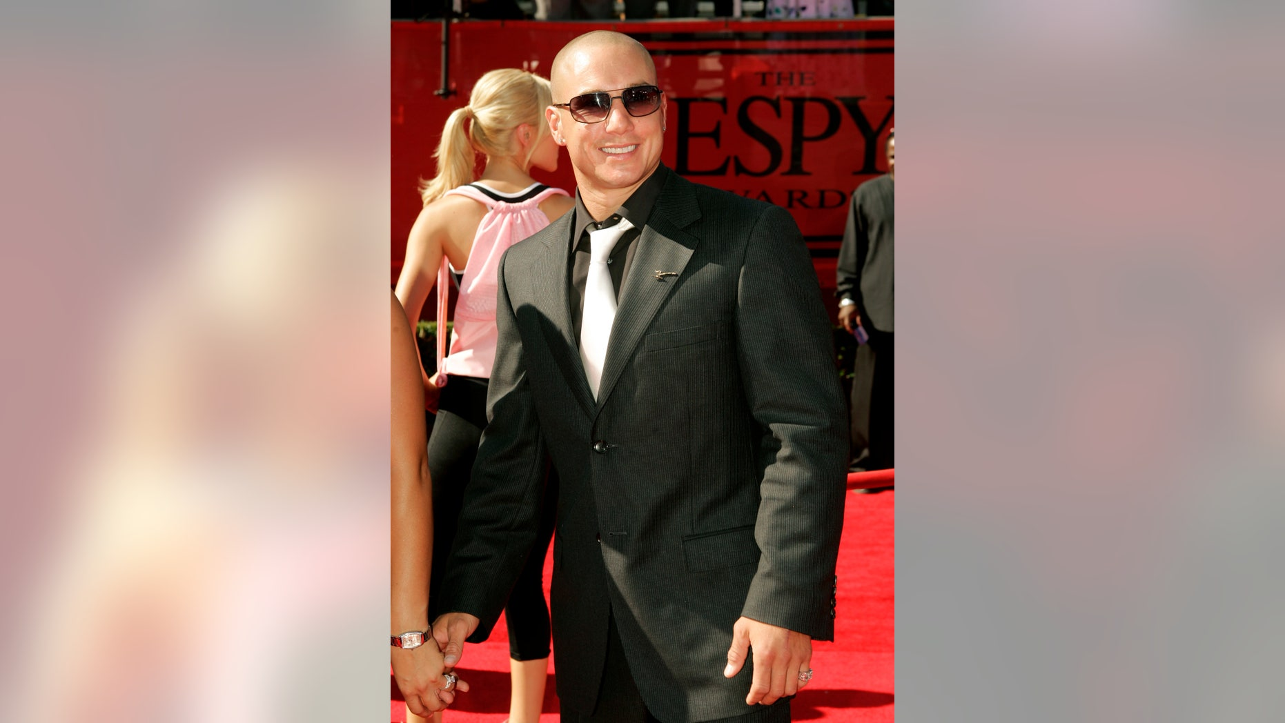 Professional BMX rider Dave Mirra poses as he arrives at the 13th annual ESPY Awards at the Kodak Theatre in Hollywood July 13, 2005.