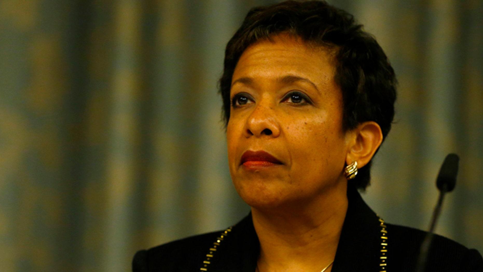 Sept. 14, 2015: U.S. Attorney General Loretta Lynch attends a news conference on Swiss criminal proceedings.