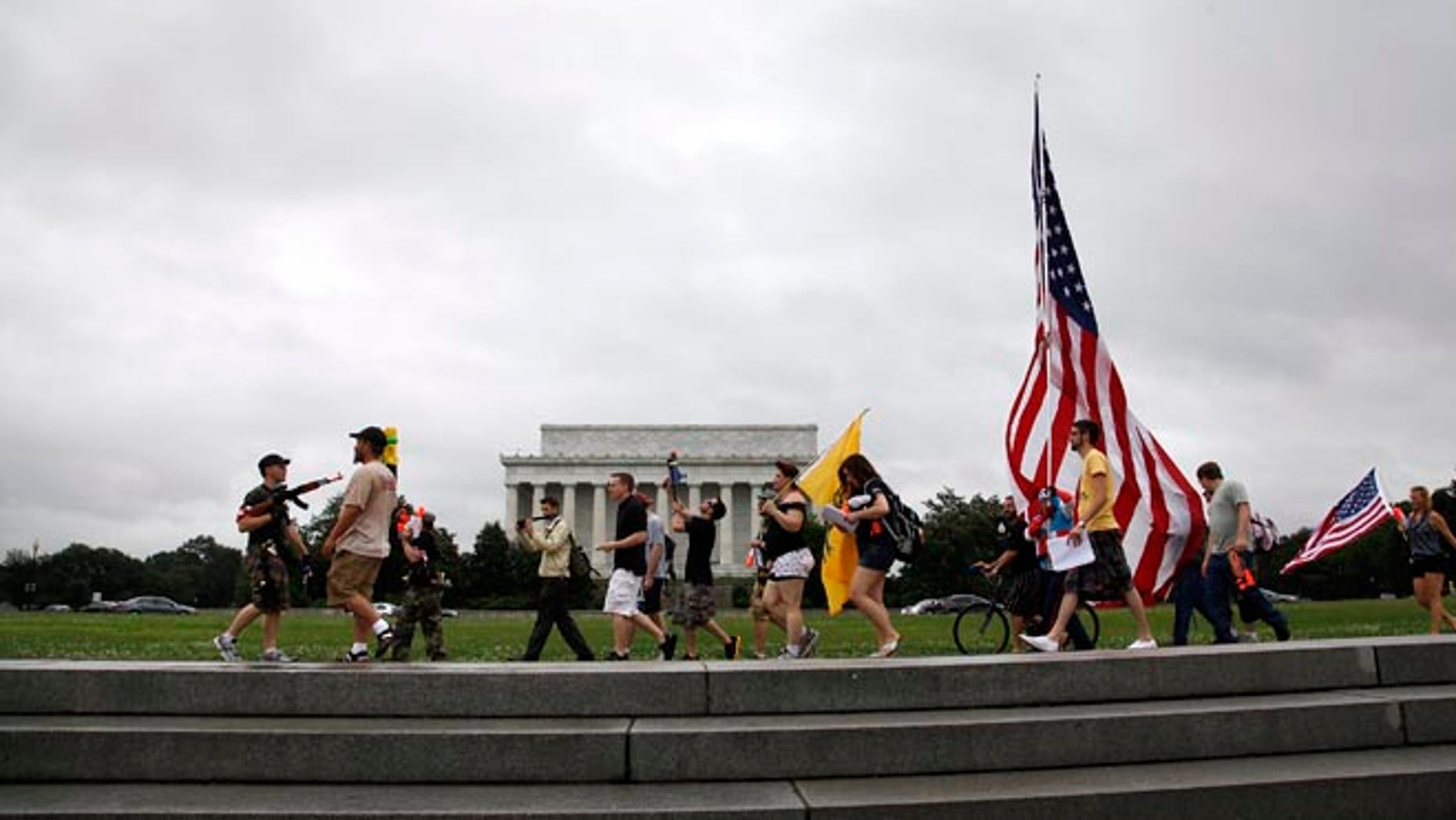 FILE: July 3, 2013:  A Second Amendment rally organized by a Libertarian website at the Lincoln Memorial, in Washington, D.C.