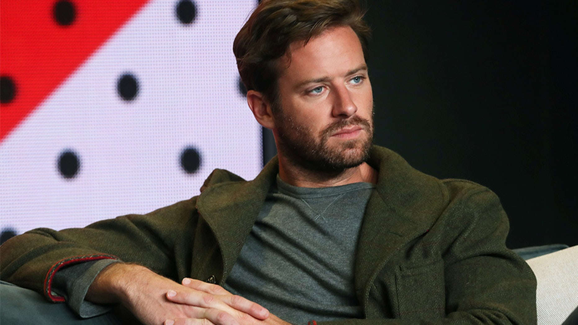"Actor Armie Hammer at a press conference to promote the film ""Call Me By Your Name"" at the Toronto International Film Festival (TIFF) on September 8, 2017."