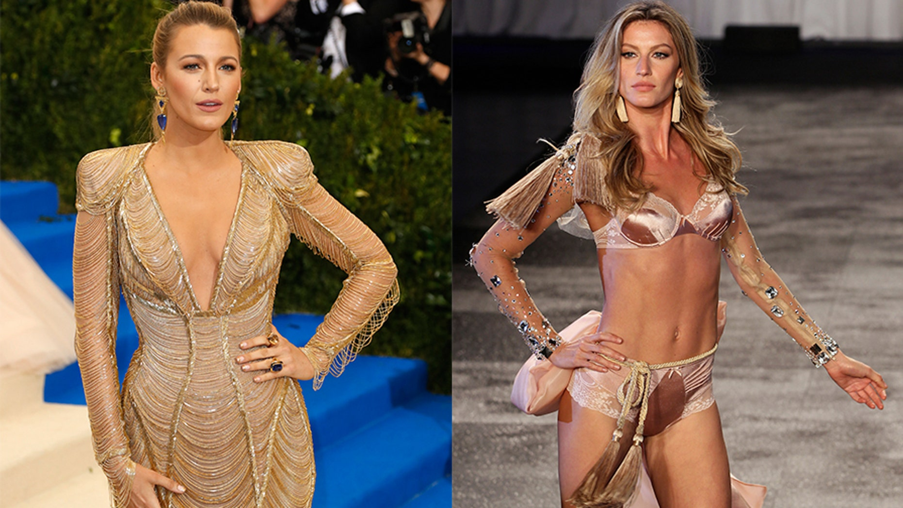 Actress Blake Lively claimed supermodel Gisele Bündchen motivates her to stay in camera-ready shape.