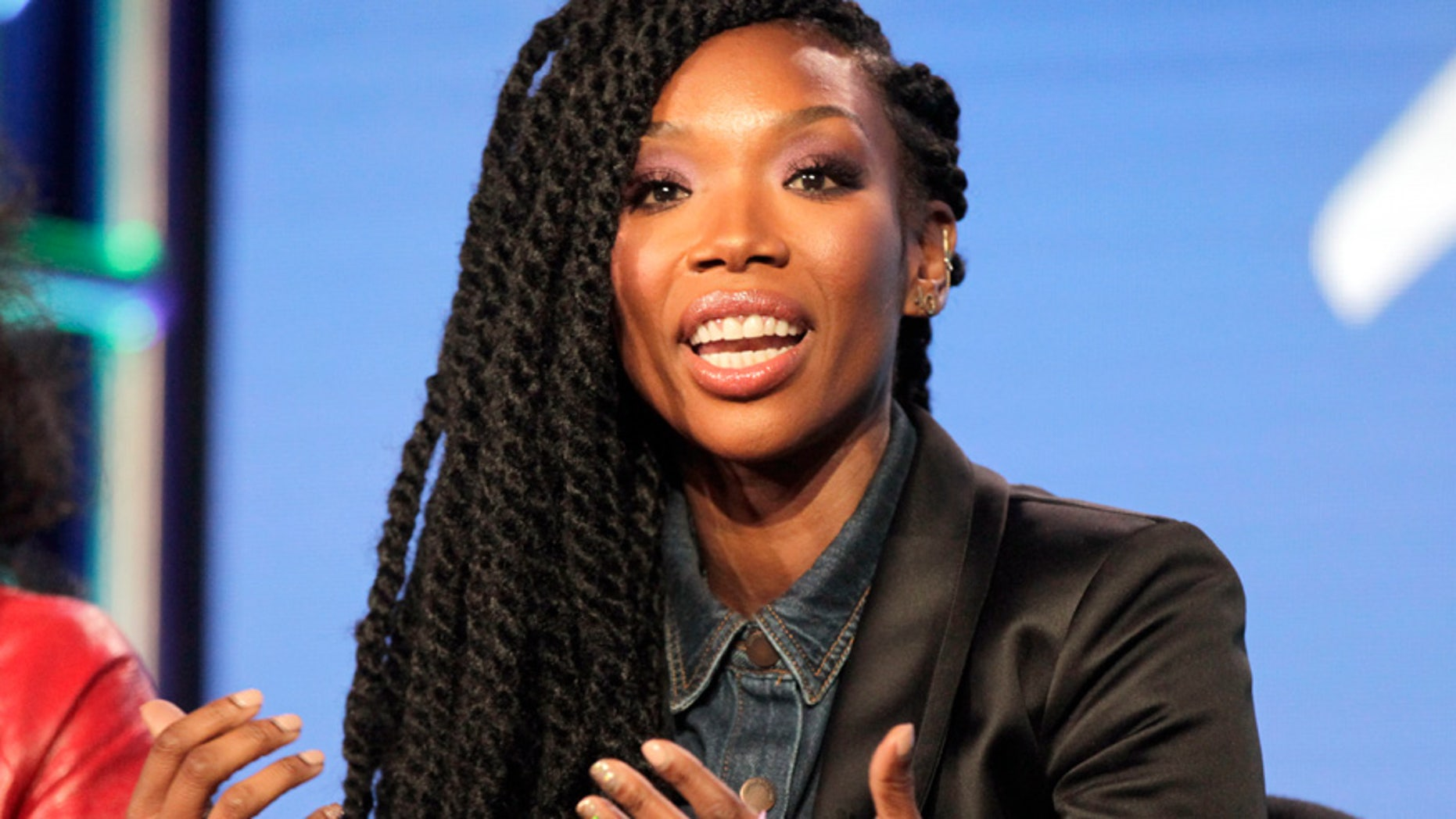 Cast member Brandy Norwood participates in the Viacom BET 'Zoe Ever After' panel during the Television Critics Association (TCA) Winter press tour in Pasadena, California January 6, 2016.