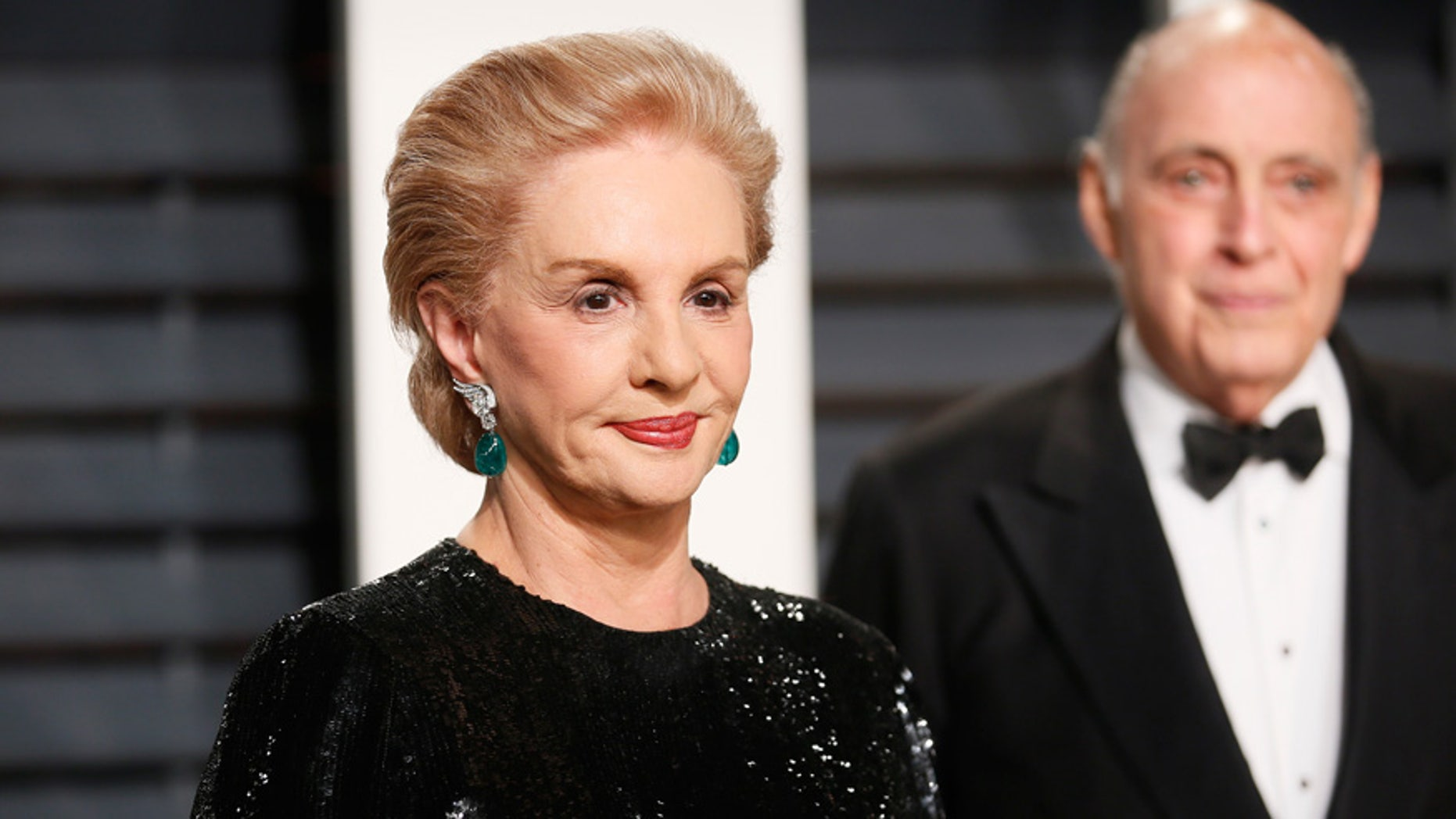 Designer Carolina Herrera at the Oscars Vanity Fair Party in Beverly Hills, California February 2, 2017.