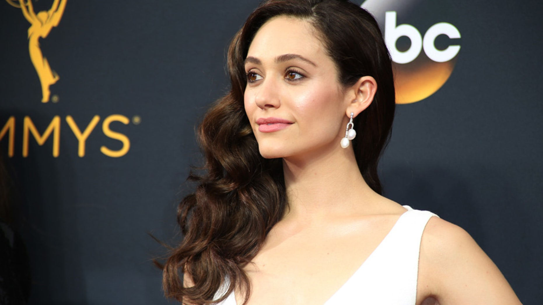 "Actress Emmy Rossum from the Showtime series ""Shameless"" arrives at the 68th Primetime Emmy Awards in Los Angeles, California U.S., September 18, 2016."