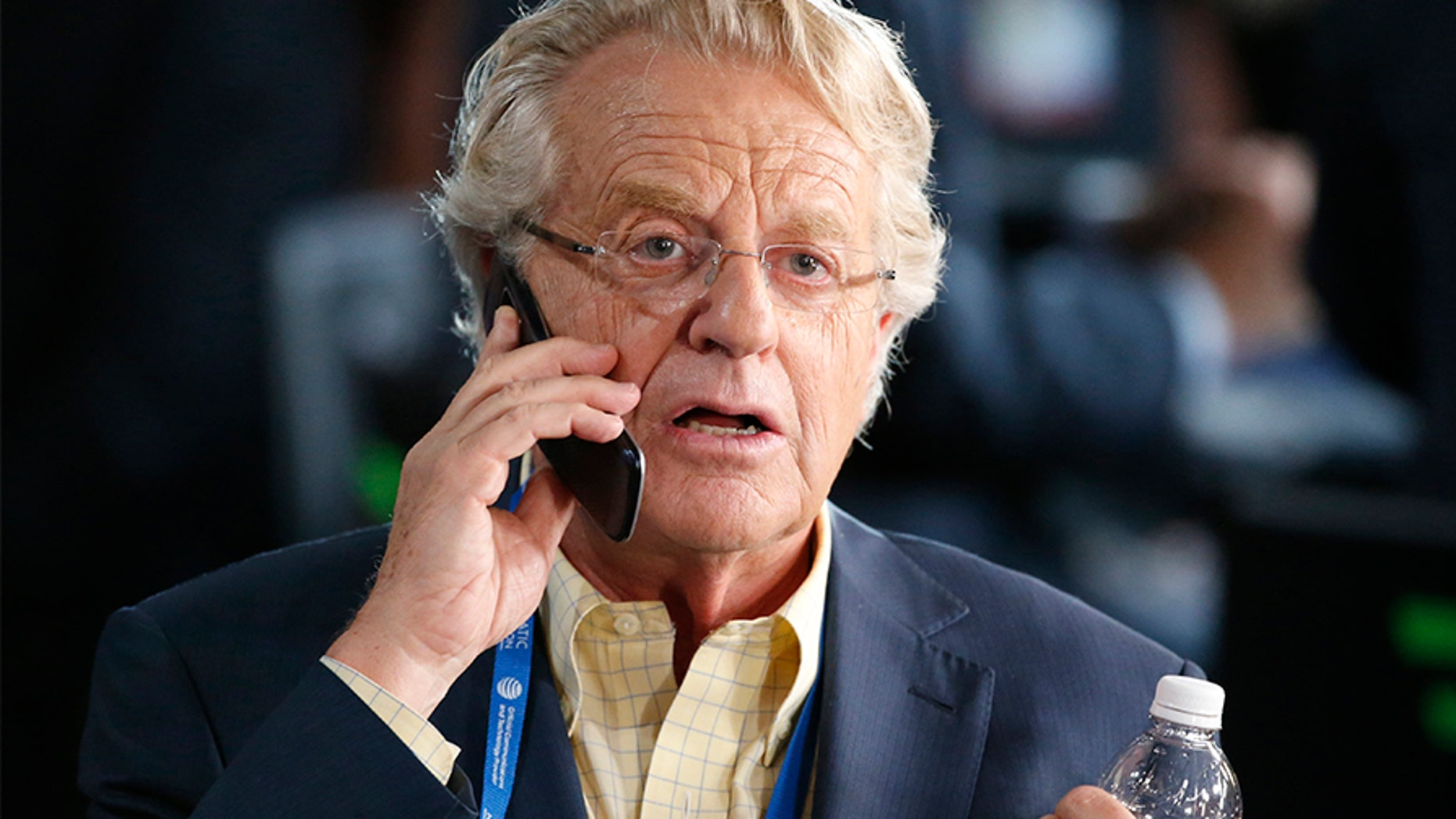Television personality Jerry Springer at the Democratic National Convention in Philadelphia, Pennsylvania, U.S. July 25, 2016. REUTERS/Lucy Nicholson - HT1EC7P1MSV9G