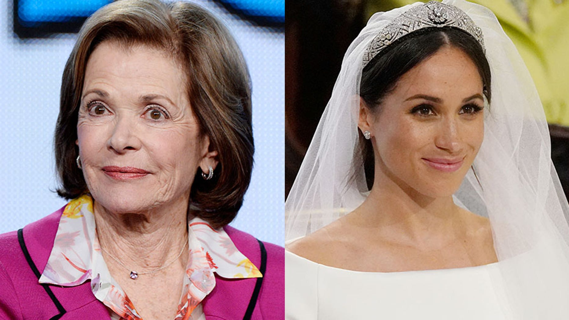 "Jessica Walter (left) got candid about the racy scene made by now Duchess of Sussex Meghan Markle in the ""90210"" reboot."
