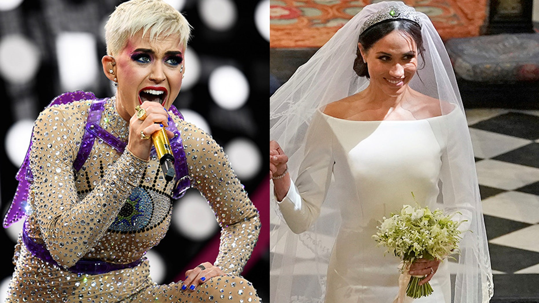 "Katy Perry ""left"" said Meghan Markle's royal wedding dress could have used ""one more fitting."""
