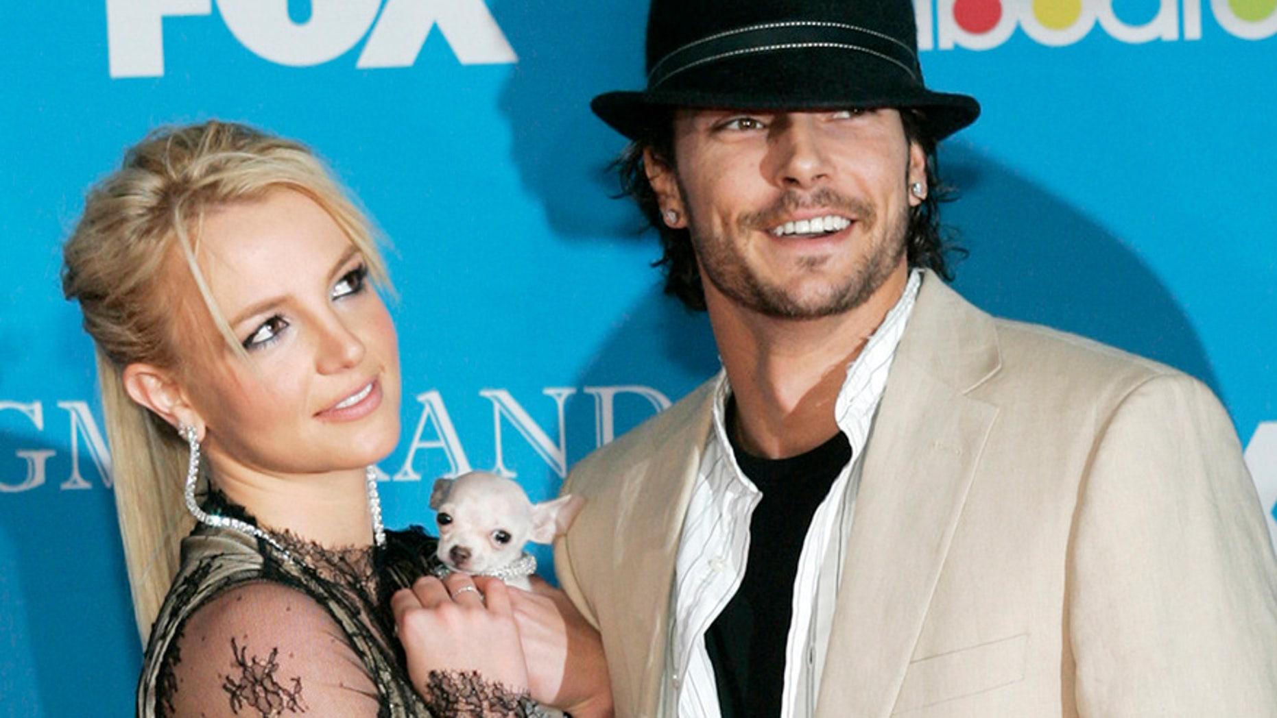 Britney Spears and Kevin Federline arrive for the 2004 Billboard Music Awards in Las Vegas.