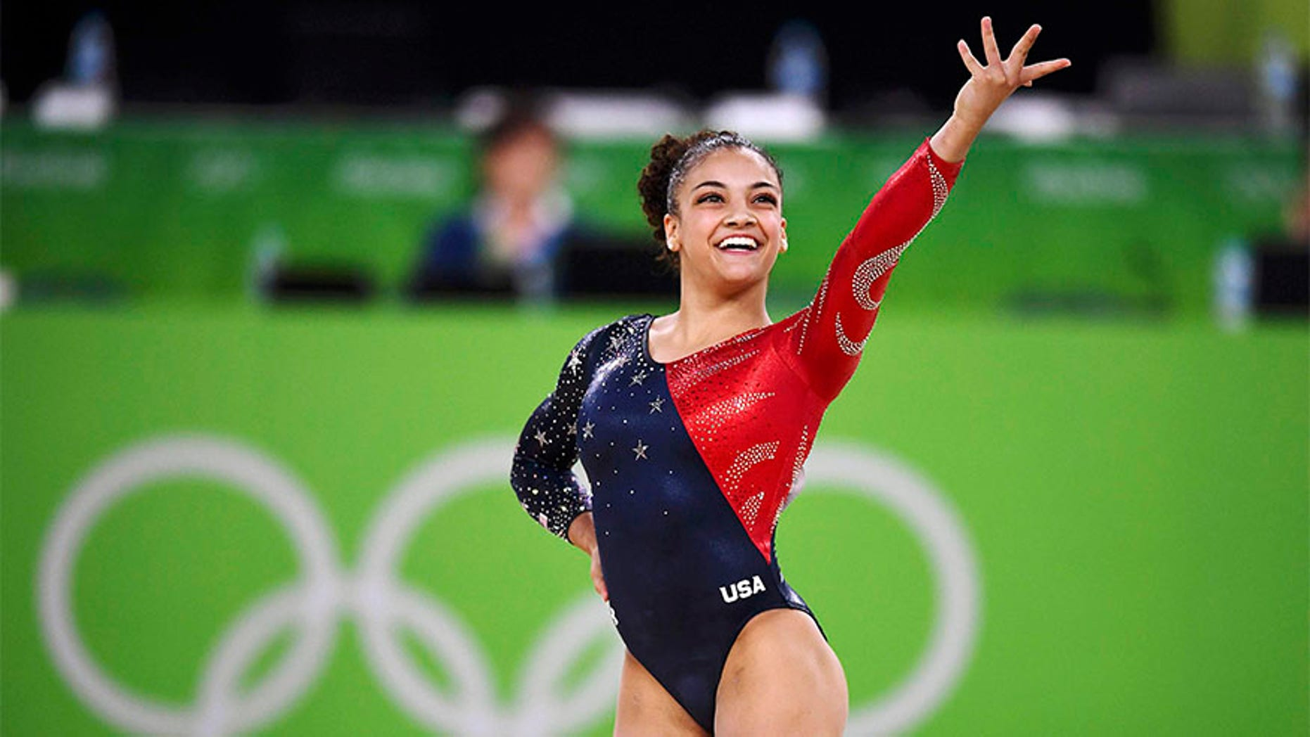 Laurie Hernandez at the 2016 Rio Olympics.