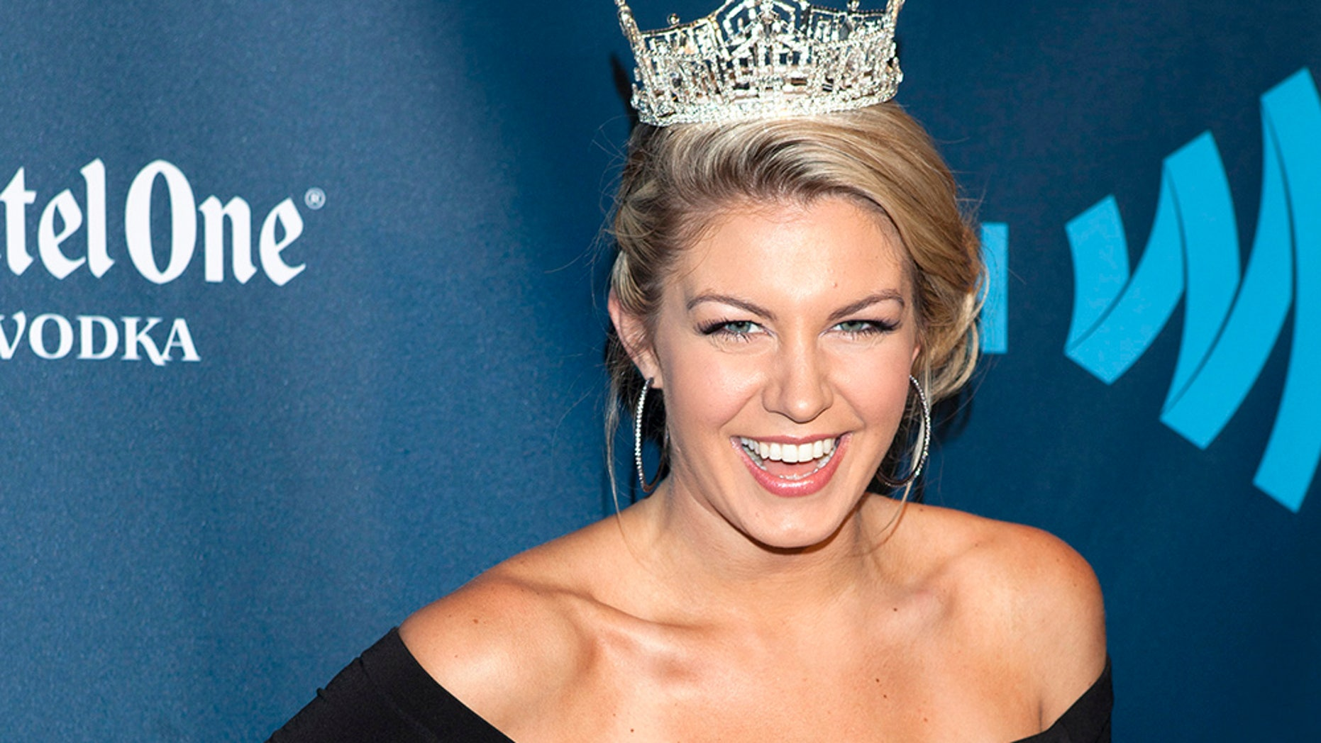 Miss America 2013 Mallory Hagan arrives for the 24th Annual GLAAD Media Awards in New York, March 16, 2013.  REUTERS/Carlo Allegri  (UNITED STATES - Tags: ENTERTAINMENT) - GM1E93H13RH01