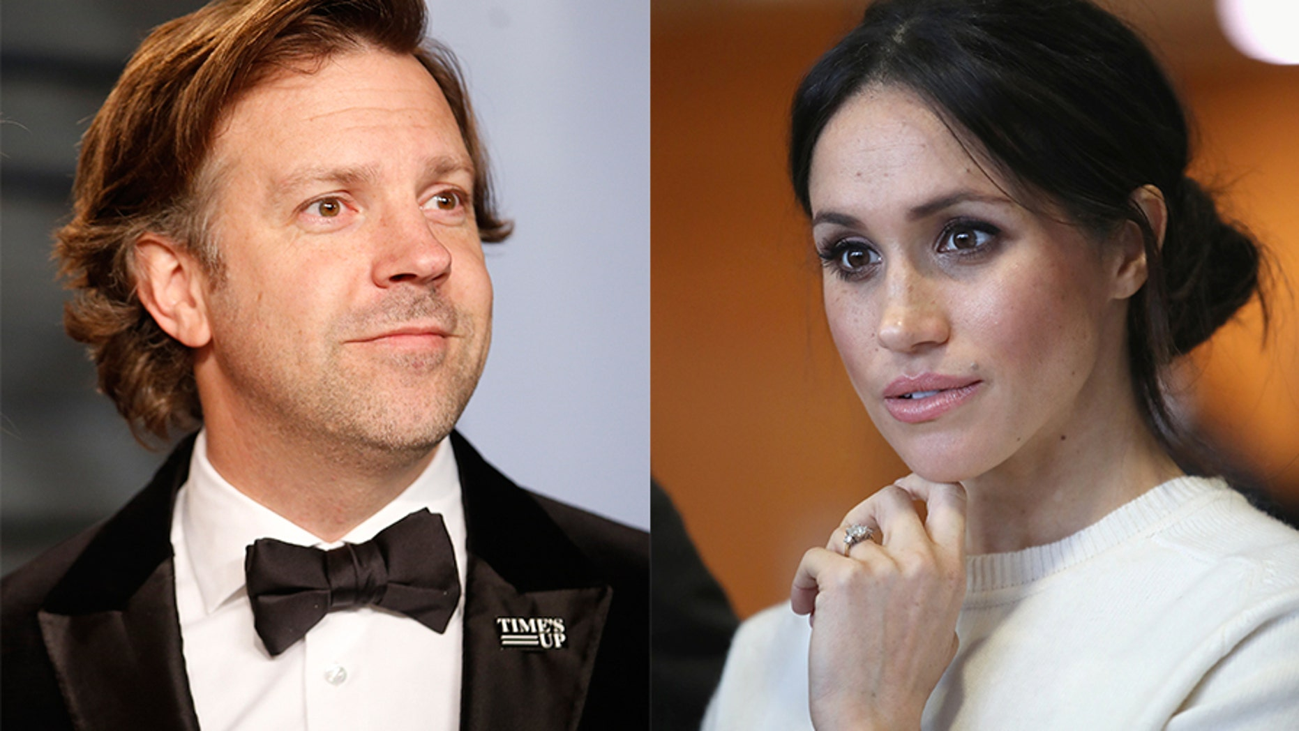 "Jason Sudeikis (left) worked with Meghan Markle in the 2011 comedy ""Horrible Bosses."""