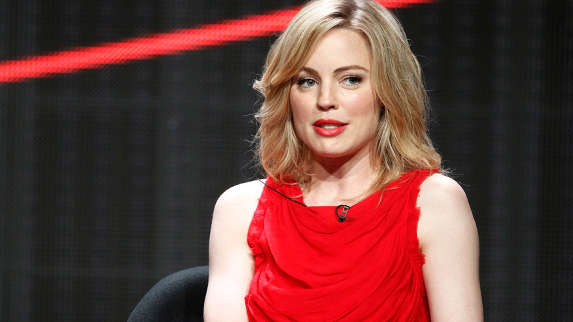 Australian actress Melissa George speaks during an HBO presentation at the Cable portion of the Television Critics Association summer press tour in Beverly Hills.