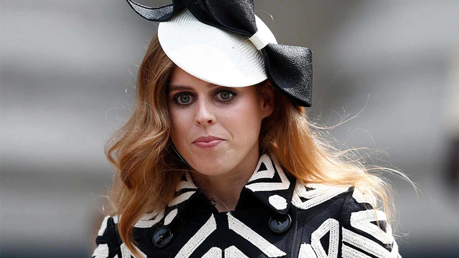 Britain's Princess Beatrice leaves after a service of thanksgiving for Queen Elizabeth's 90th birthday at St Paul's Cathedral in London, Britain, June 10, 2016.    REUTERS/Peter Nicholls  - LR1EC6A0YNKQ1
