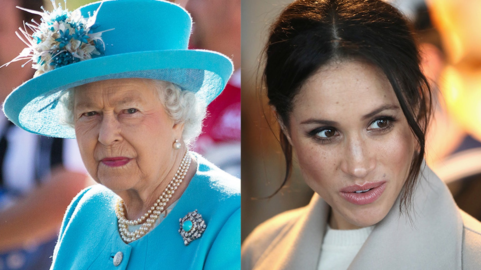 According to royal tradition, Queen Elizabeth II must approve the gowns of brides-to-be, like American actress Meghan Markle, who is engaged to her grandson Prince Harry.