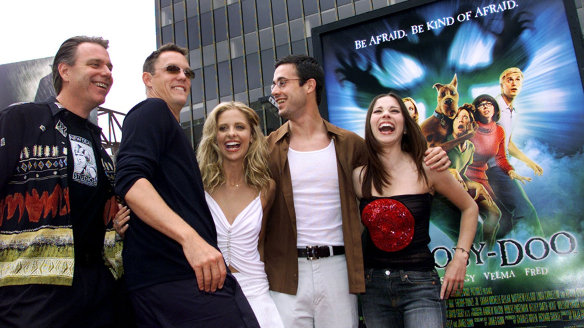 The cast arrives at the world premiere of the film Scooby Doo June 8, 2002 in Hollywood.