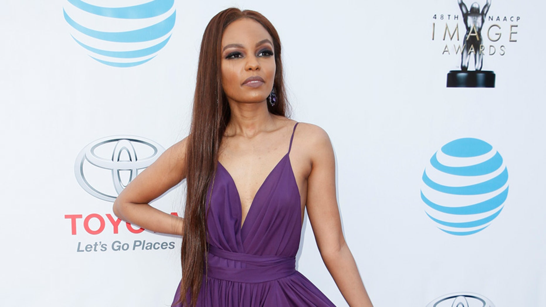 Sierra McClain arrives at the 48th NAACP Image Awards in Pasadena, California on February 11, 2017.