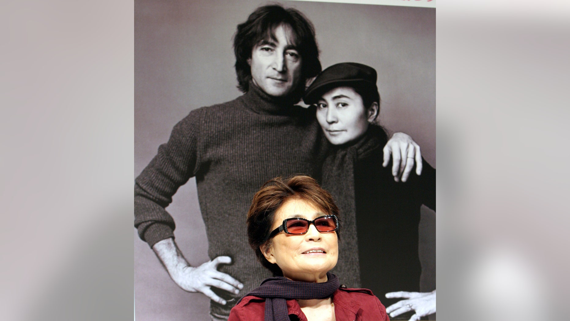 Yoko Ono, widow of former Beatles' John Lennon, speaks at a news conference in Tokyo November 2, 2006.