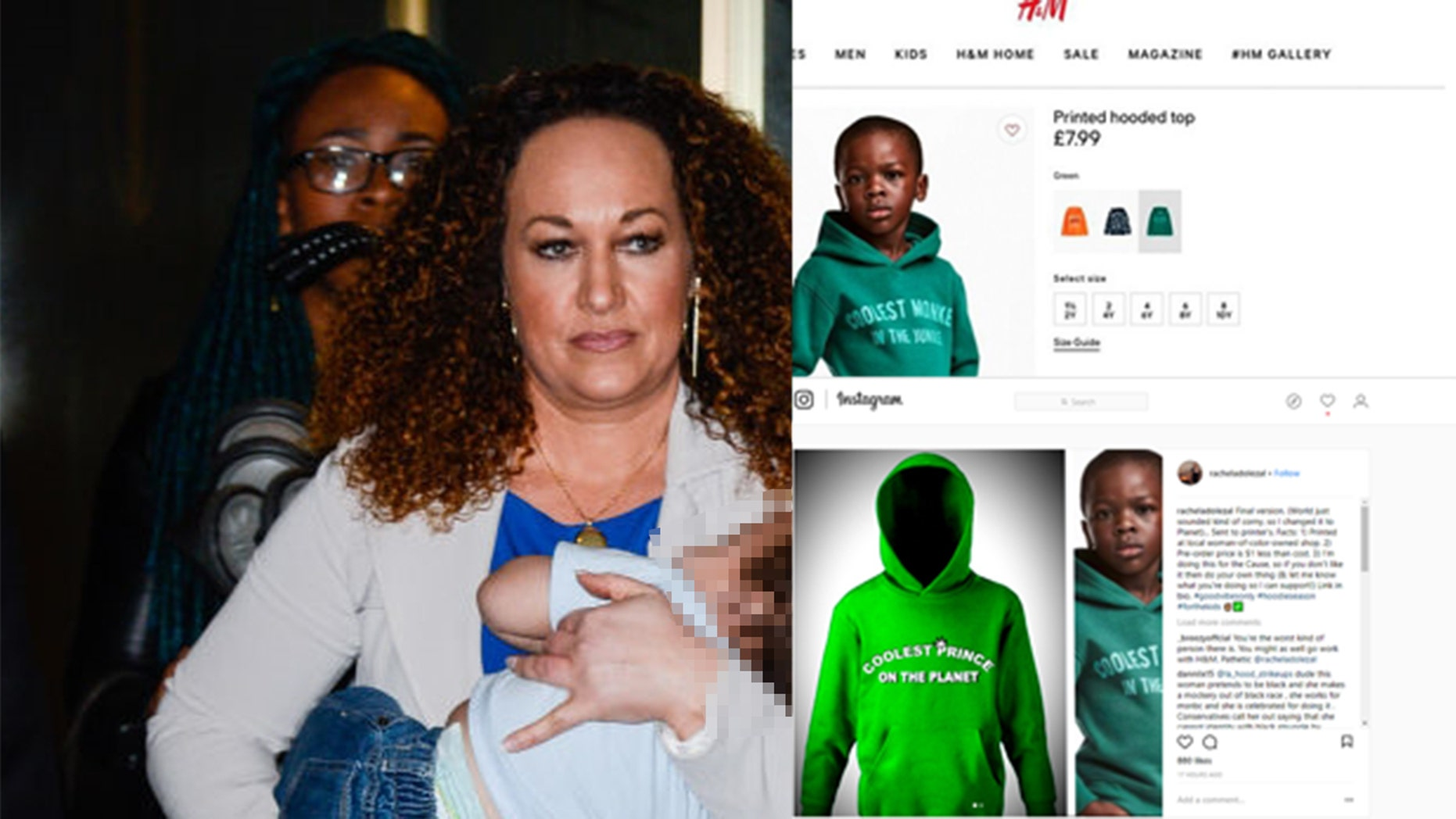 """Rachel Dolezal has created a """"protest hoodie"""" in response to a controversial H&M sweatshirt, but it's not going over well on social media."""