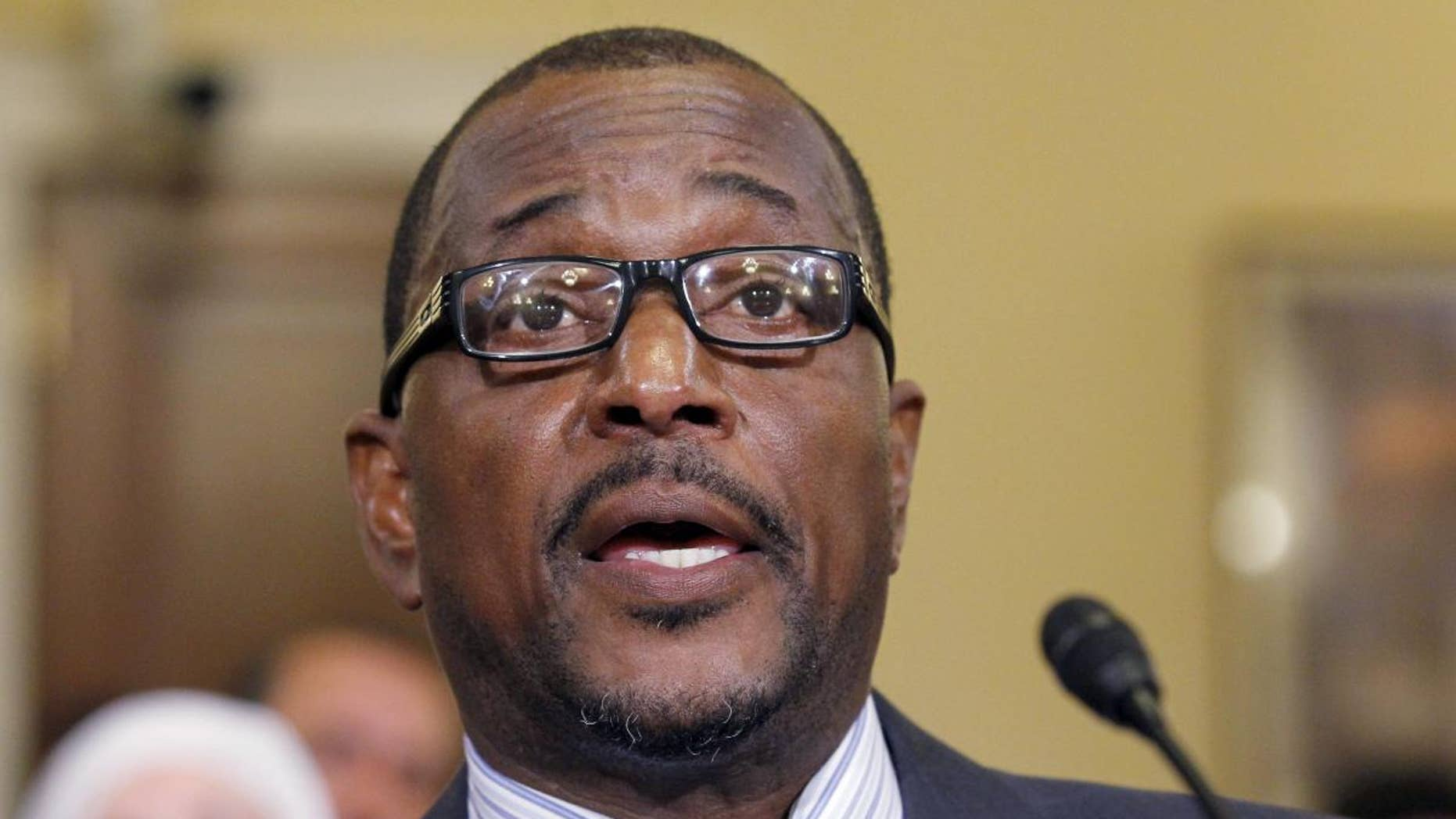 """Melvin Bledsoe, testifies during a hearing of the House Homeland Security Committee, on """"the extent of the radicalization"""" of American Muslims, on Capitol Hill in Washington, Thursday, March 10, 2011 (AP Photo/Alex Brandon)"""