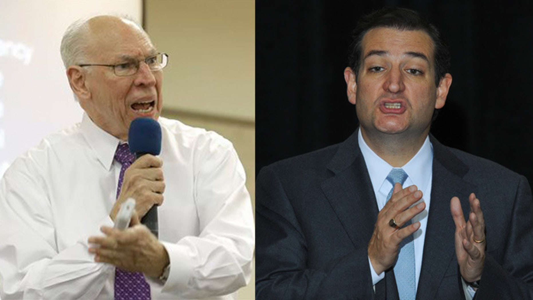 Rafael Cruz and son Sen. Ted Cruz.