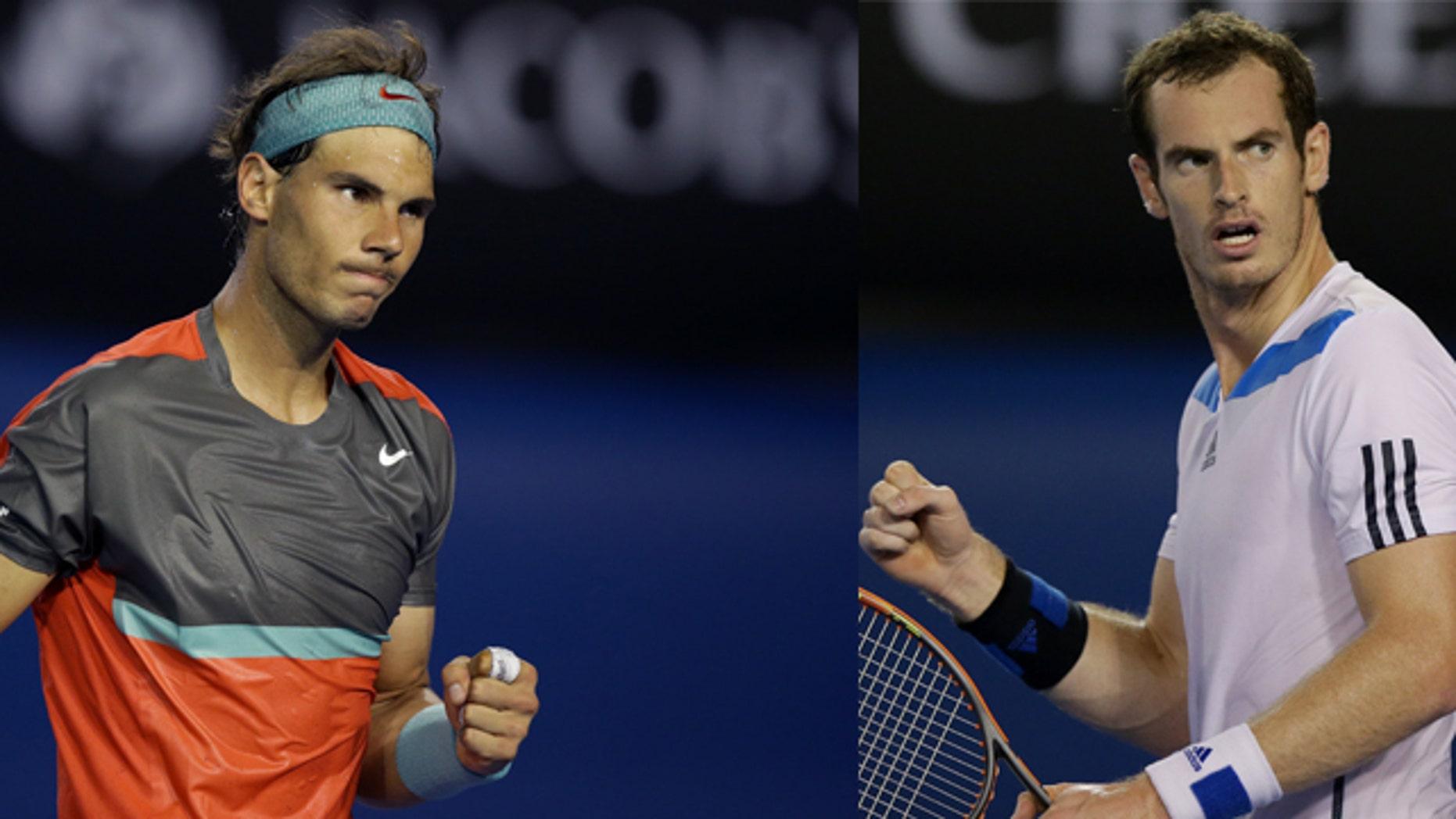 Rafael Nadal (left) and Andy Murray.
