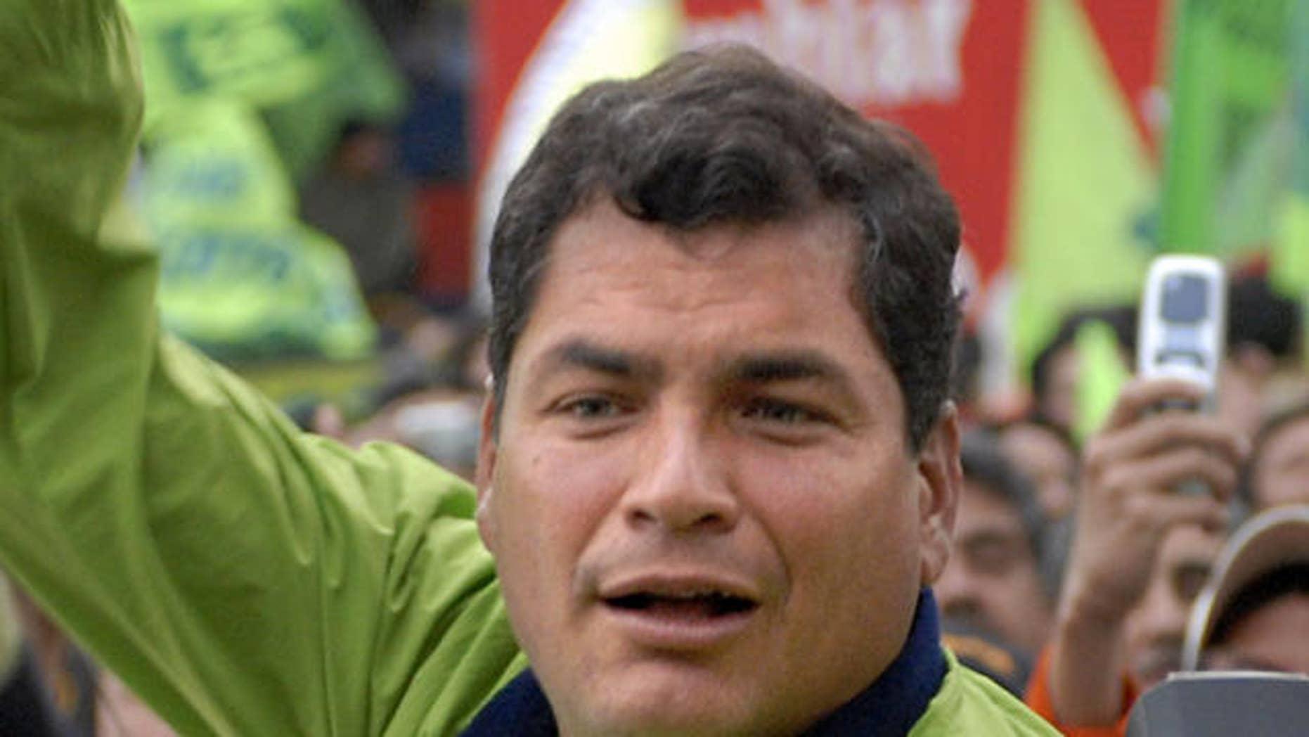 Ecuadoran President Rafael Correa