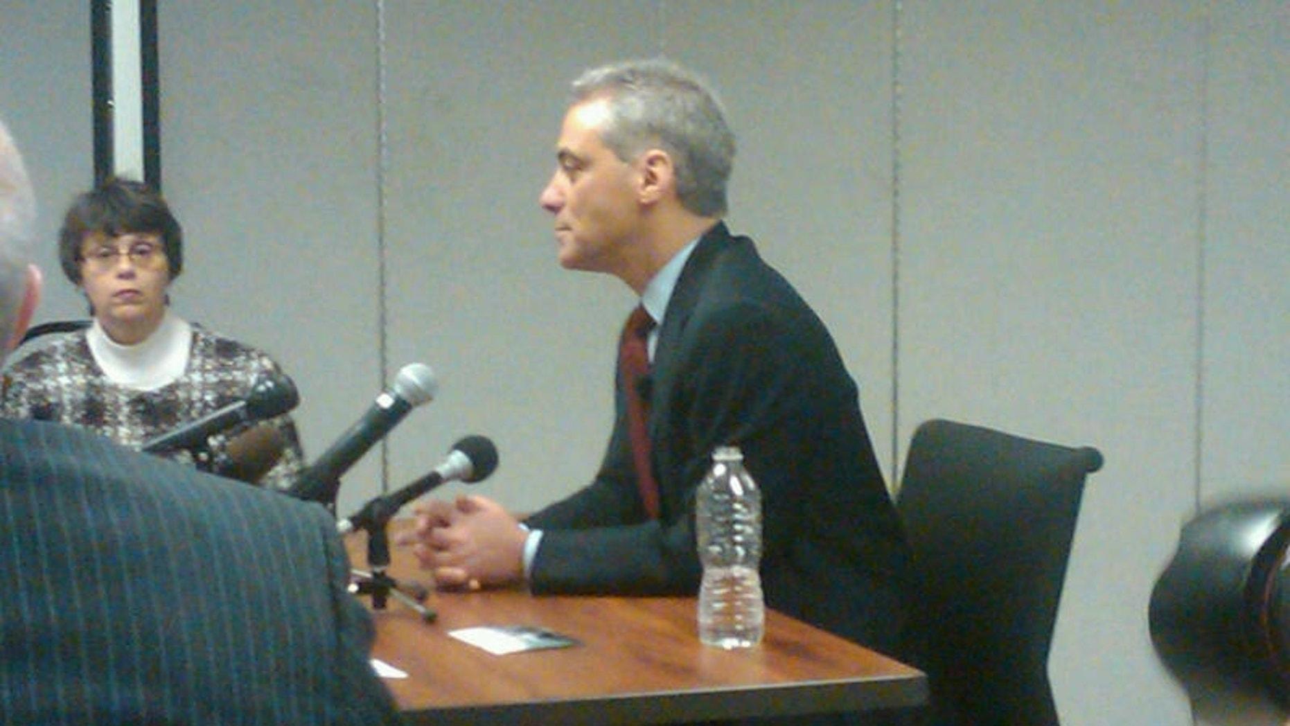 Rahm Emanuel in the Witness Chair (Fox News Photo / Marla Cichowski)