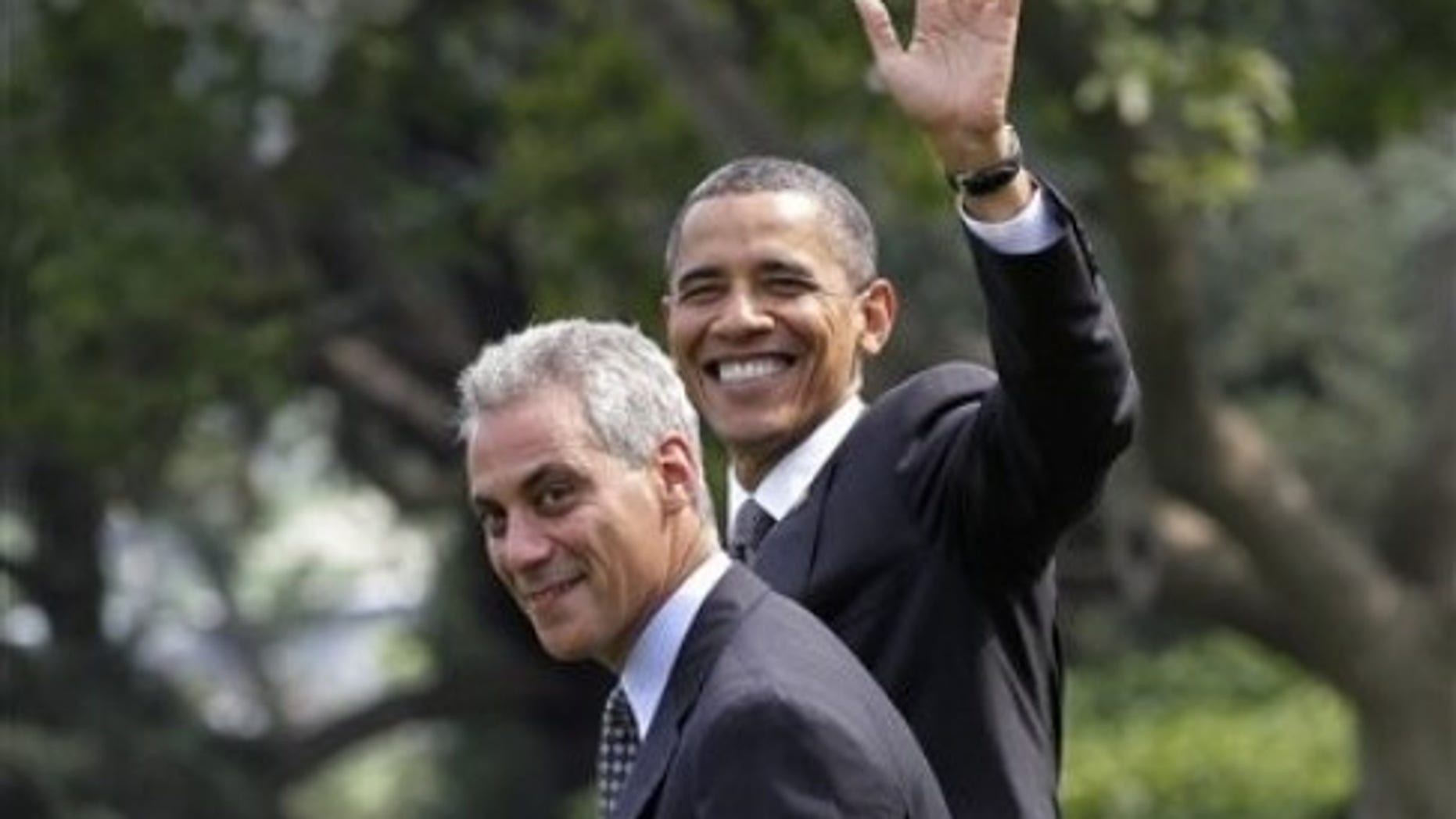 Emanuel and Obama (AP photo)