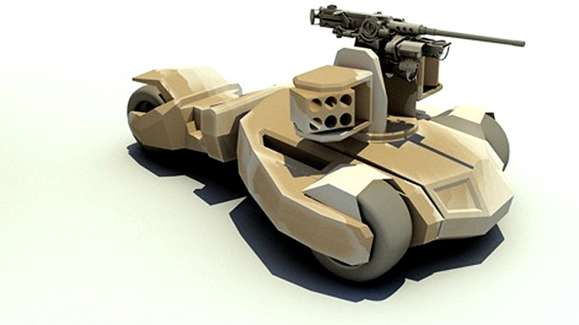 An experimental tank design from BAE Systems may remind you of the latest Batman movies -- because its designers were inspired by the caped crusader.