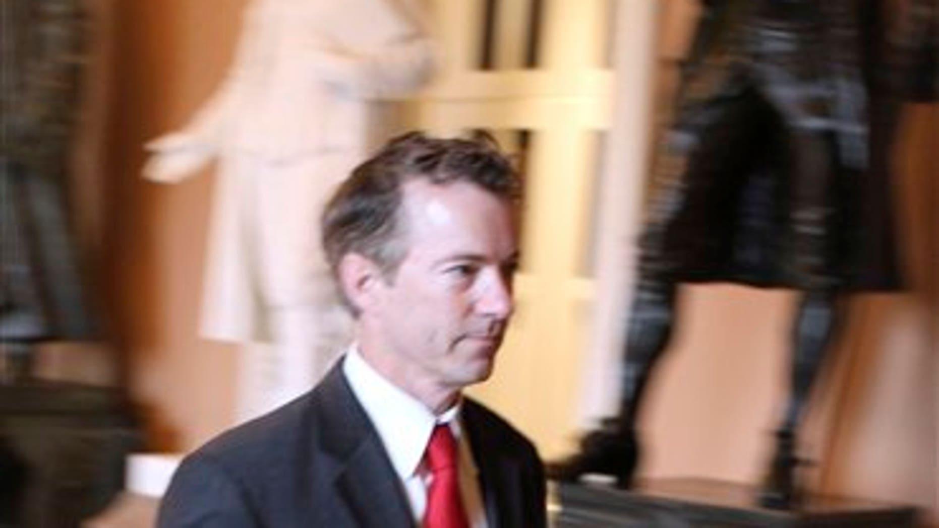 Rand Paul walks through the U.S. Capitol on November 15 (AP Photo/Harry Hamburg)